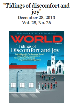 WORLD Magazine: Tidings of discomfort and joy